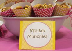 Snack ideas for a monkey party