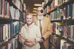 cute old couple. i hope my husband wears a patch when he's old.