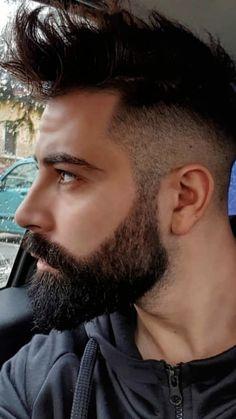 Medium Beard Styles, Beard Styles For Men, Hair And Beard Styles, Curly Hair Styles, Mens Hairstyles With Beard, Cool Hairstyles For Men, Haircuts For Men, Beard Fade, Sexy Beard