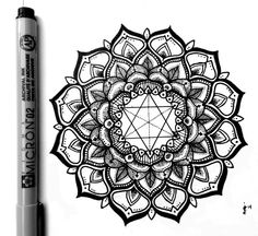 Finished Mandala. Enjoy! Micron Liner on Moleskine