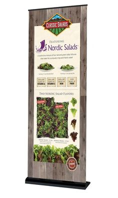 Portfolio ‣ Branding ‣ Banner Stands ‣ Classic Salads Classic Salads Banner Stand Design