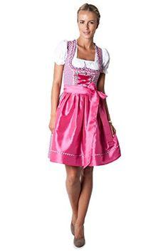 #Ludwig und #Therese #Damen #Trachten #Dirndl-Set #Lilly #mini #beere/pink…