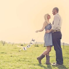 A DIY engagement session in West Virgina!  #engagement #love     Baby name