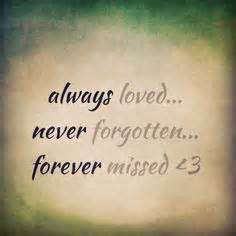 Always Loved Never Forgotten Quotes - Positive Quotes Images