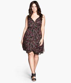 H&M+ Crinkle Dress | Faux Wrap Chiffon