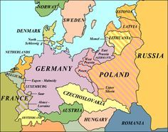 Map Of Europe In 1914 Before The Great War World War I