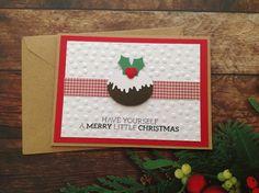 Christmas cards, Handmade Kraft cardstock christmas card, handmade cards, Christmas card by PinkyPromiseBargains on Etsy