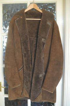 SALE Vintage LADIES LONG SHEEPSKIN COAT Golden Brown UK10 ...