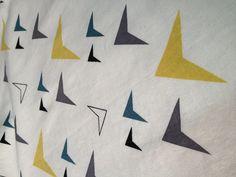 LOOM print hand-printed on Linen/Rayon fabric #fabric #handprinted #linen #rayon