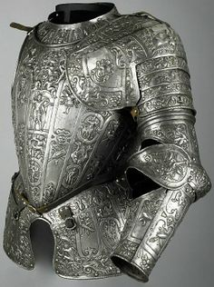 Partial unfinished armour, c.1580, in the manner of Lucio Marliani (Piccinino) (1538 - 1607) who was described by Paolo Morigia in his 'La nobilta di Milano (1595) as being the son of the famous swordsmith Alessandro Piccinino, who died in 1589, and brother of Federigo, another swordsmith. Morigia writes that has made some outstanding armours for His Serene Highness the Duke of Parma, Alessandro Farnese, and for other Princes which are regarded as rare objects.' 8.56 kg;.Wallace Collection,