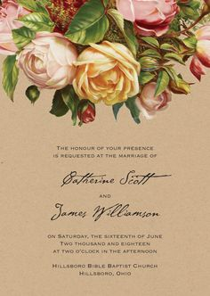 Rose Rhapsody Wedding Invitation | Invitations by David's Bridal