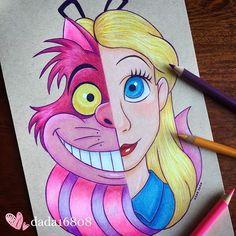 Disney Character Drawings, Disney Drawings Sketches, Cute Disney Drawings, Cool Art Drawings, Kawaii Drawings, Easy Drawings, Drawing Sketches, Drawing Faces, Drawing Tips