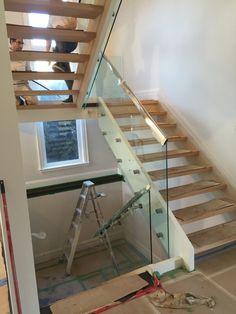 glass railings wood - Google Search