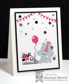 Maureen Merritt for Lil' Inker Designs - April Release featuring Party Pachyderms