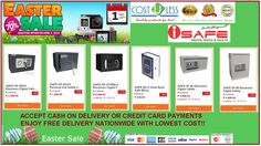 Save the Big Discount on SAFE VAULTs @ Lazada Easter Sale Promo! Shop Now and Enjoy Free Delivery Nationwide Promo! Cash On Delivery or Credit Card Payments are All Accepted! Check it here: http://www.lazada.com.ph/catalog/?q=safe+vault+cost+u+less