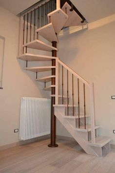 Spiral Stairs Design, Home Stairs Design, Interior Stairs, Interior Design Living Room, Interior Decorating, Small Space Staircase, Loft Staircase, Escalier Art, Loft Conversion Bedroom