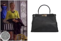 Serena - Fendi tote bag , Alexander Wang neoprene skirt , top by Joseph Gossip Girls, Gossip Girl Fashion, Fashion Tv, Fashion Books, Fendi Bags, Fendi Tote, Gossip Girl Season 6, Serena Van Der Woodsen, Favorite Tv Shows