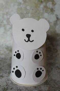 Polar bear craft for kids - easy winter craft for kids #wintercrafts #polarbear #kidscrafts