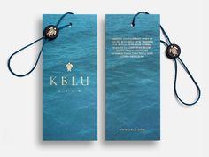 K.BLU swimwear logo. Branding for a sophisticated swimwear line. Branding/Art direction by Bravo.