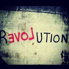 The graffiti art here states the political message that we should appreciate the revolution of others to how the government should be changed, but the reason it is backwards, is because the situation itself is backwards. The government goes against the opinions of others.
