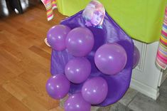 The juicing of Violet Beauregard...the balloons when popped contained blueberry gum!!! (the juice)
