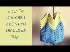 This popular Chevron Shoulder Bag is quite easy to make. It's a perfect project for beginners to learn basic crochet stitches and the result will make you proud! Crotchet Patterns, Basic Crochet Stitches, Crochet Hook Sizes, Crochet Basics, Crochet Bag Tutorials, Beginner Crochet Projects, Crochet Handbags, Crochet Purses, Crochet Backpack