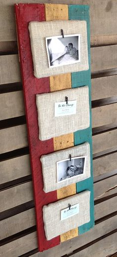 Recycled Pallet Picture Frame Holder with by BeTheChangeDesigns, $45.00