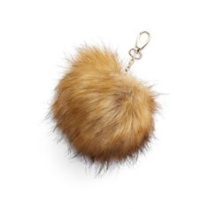 Junior Nila Anthony Faux Fur Pompom Clip (535 THB) ❤ liked on Polyvore featuring bags, handbags, camel, fake bags, nila anthony, faux fur purse, faux fur handbags and brown handbags