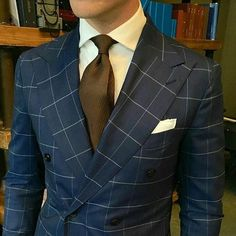 mydapperself: The Beckett & Robb guys are killing it with the double-breasted super wide lapels. Some say theyve gone too wide I say great be bold and dont be afraid to stand out. This is @derekbleazard