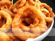 Gluten Free Onion Rings - The Baking Beauties