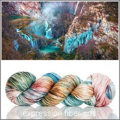 CAVERN 'LUSTER' SUPERWASH MERINO TENCEL WORSTED YARN by expression fiber arts - colors come and go quickly!