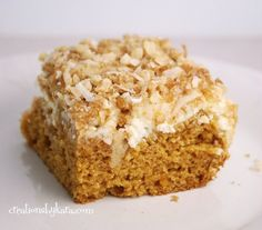 """I typed """"pumpkin cream cheese coffee cake"""" in google and prayed that it would exist.  Voila!  Making this for breakfast right now!"""