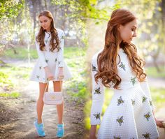 Chic Wish Dress, Asos Bag, Hickies Shoelaces, Nike Sneakers, Choies Hair Extention