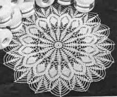 Crocheted Easy Doily Pattern