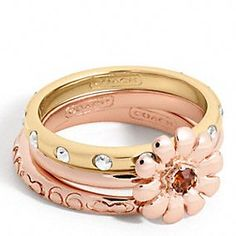 Flower Stacking Ring from Coach @Maria Canavello Mrasek Canavello Mrasek Canavello Mrasek Quintero #Findwhatyoulove