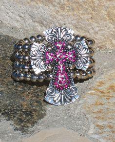 Cross Stretch Bracelet
