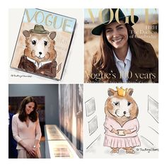 Sunday is Funday! Meet HRH Hamster Marvin of Cambridge! This week the Duchess revealed they have a named Marvin. Now he has his own (unofficial) Twitter. Apparently one also had his first Vogue Cover and visited @nationalportraitgallery in pink dress by Alexhamster McQueen// @theroyalhamster Twitter,