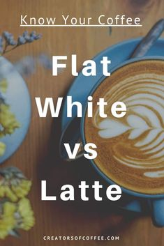With so many coffee styles, it can be hard to tell the difference between them. If you are confused about what makes a latte vs flat white, this article is for you! We explain how the two espresso drinks are unique Espresso At Home, Espresso Drinks, Espresso Coffee, Coffee Drinks, White Coffee, Chocolate Covered Coffee Beans, Buy Coffee Beans, Coffee Creamer, Coffee Latte