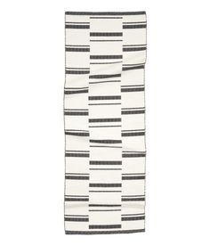 Jacquard-weave Cotton Rug   White/black patterned   Home   H&M US