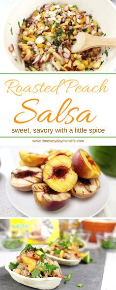 Roasted Peach Salsa