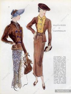 Karsavina 1935 Schiaparelli & Marcel Rochas, Fashion Suit