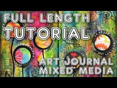 Art Journal Mixed Media The Catwoman - YouTube