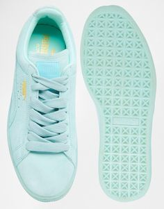 Puma Basket Suede Classic Mint Green Sneakers