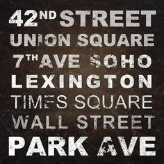New York Places I Kunstdruk