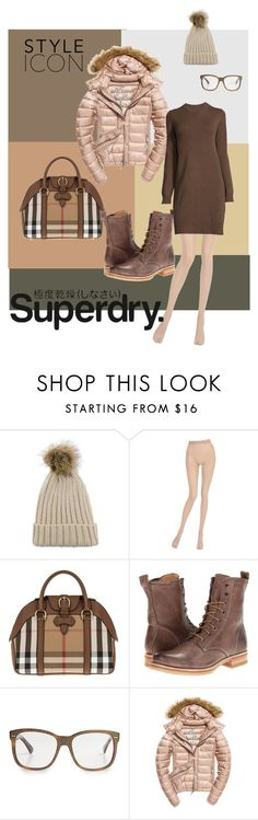 """""""The Cover Up – Jackets by Superdry: Contest Entry"""" by yeckiedesignconcept ❤ liked on Polyvore featuring La Perla, Burberry, Frye, Gucci, Fuji and Superdry"""