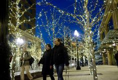 Christmas lights at the City Creek Center in Salt Lake City. Christmas In The City, Salt Lake City Utah, Beautiful World, Christmas Lights, Just Go, Fun Stuff, Photo Galleries, Photo And Video, Places