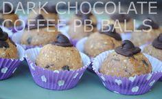 dark chocolate coffee peanut butter balls (by @Harriet Adkins Foodie Finds )