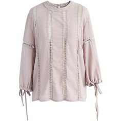 Chicwish Eyelet Brightness Chiffon Top in Dusty Pink ($45) ❤ liked on Polyvore featuring tops, pink, bright colored tops, grommet top, dusty pink top, bright tops and pink top