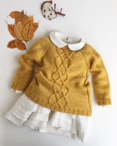 30 Easy and Cozy Baby Room Ideas & Baby Clothes & Cute Baby - Baby Ideen Cute Outfits For Kids, Baby Outfits, Knitting For Kids, Baby Knitting, Baby Girl Fashion, Kids Fashion, Cute Toddler Girl Clothes, Baby Girl Birthday Dress, Designer Baby Clothes