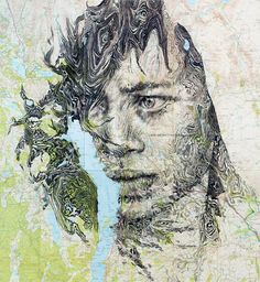 Ed Fairburn Creates Amazing Portraits Using Vintage Maps | Art-Sheep
